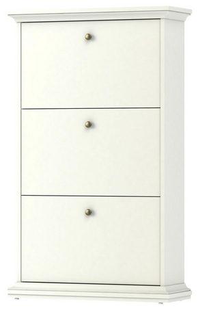 SKOSKÅP - mässingfärg/vit, Design, metall/träbaserade material (77,8/127,8/27,45cm) - Hom`in