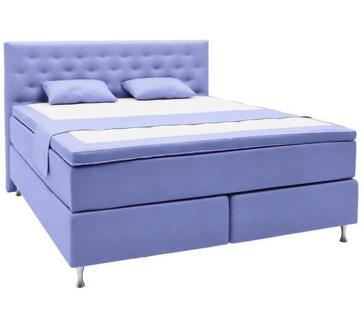 BOXSPRINGBETT 180/200 cm  in Blau  - Blau/Alufarben, KONVENTIONELL, Holzwerkstoff/Textil (180/200cm) - Elegando