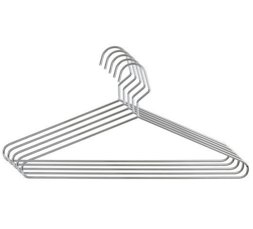 KLEIDERBÜGELSET 5 STK. - Silberfarben, Basics, Metall (40cm) - Homeware