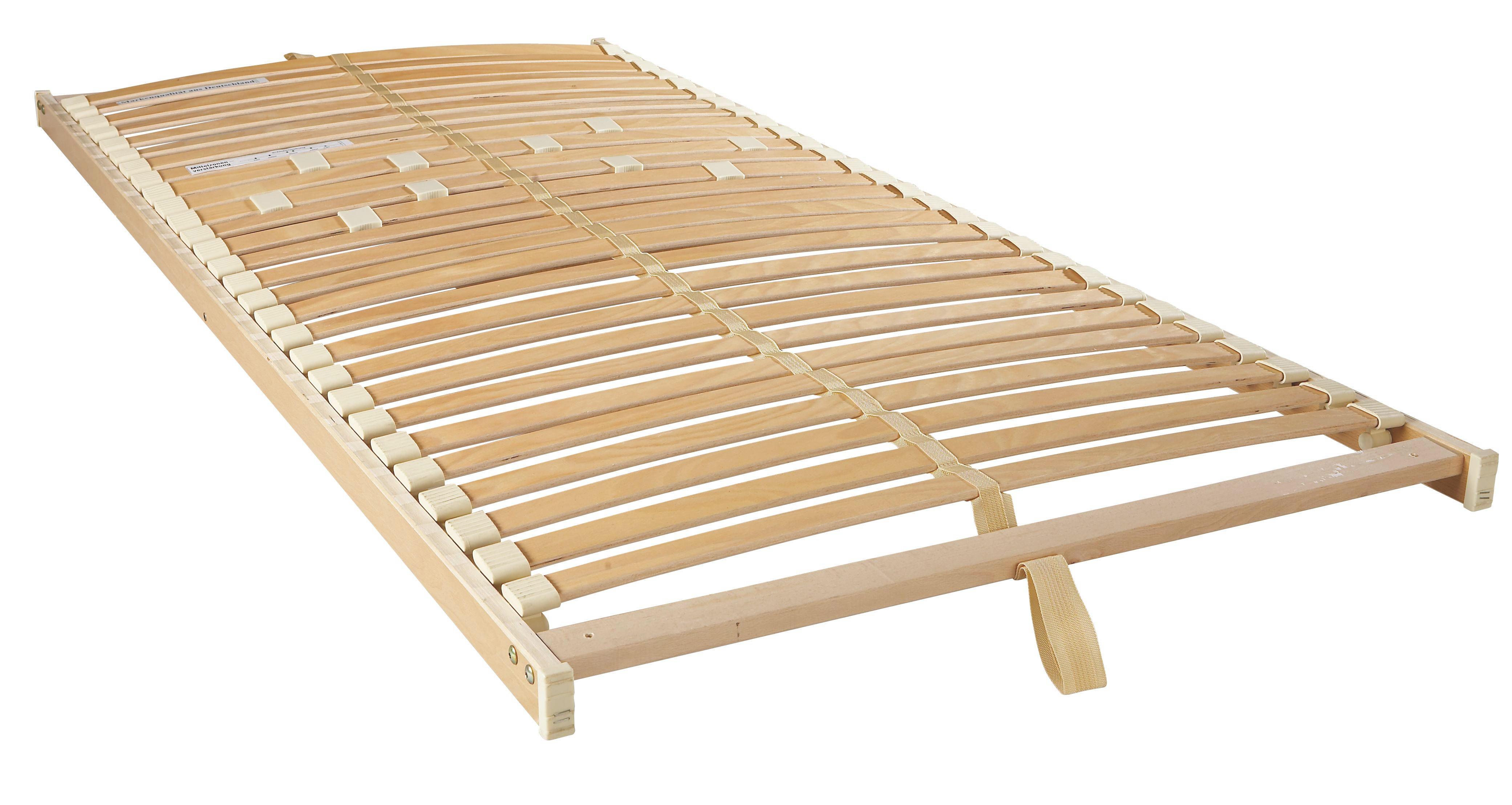 LATTENROST  80/200 cm  Buche Echtholz - Birkefarben/Buchefarben, Basics, Holz/Kunststoff (80/200cm) - SLEEPTEX