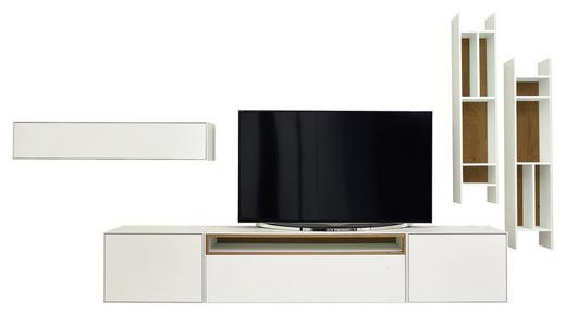 WOHNWAND furniert Eichefarben, Weiß - Eichefarben/Weiß, Design, Holz/Holzwerkstoff (372kg) - Now by Hülsta