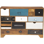 KOMMODE Pappel furniert, massiv Multicolor - Multicolor, Design, Holz/Holzwerkstoff (114/80/35cm) - Kare-Design
