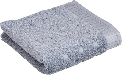 HANDTUCH 50/100 cm - Silberfarben, Basics, Textil (50/100cm) - Vossen