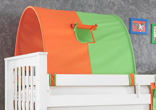 TUNNELSET Grün, Orange - Orange/Grün, Design, Textil
