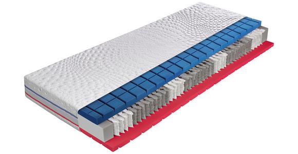 TASCHENFEDERKERNMATRATZE 160/200 cm  - Weiß, Basics, Textil (160/200cm) - Dieter Knoll