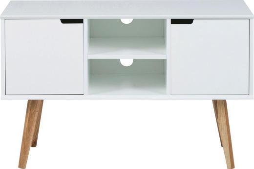 KOMMODE lackiert Weiß - Weiß/Naturfarben, Basics, Holz/Holzwerkstoff (96/62,5/38cm) - Carryhome