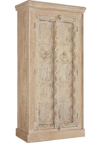 SKŘÍŇ, masivní, mangové dřevo, přírodní barvy - krémová/přírodní barvy, Trend, kov/dřevo (95/185/43cm) - Ambia Home