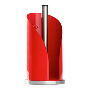 KÜCHENROLLENHALTER - Edelstahlfarben/Rot, Basics, Metall (15,6/35,2cm) - Wesco
