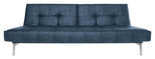 SCHLAFSOFA Blau - Blau/Chromfarben, Design, Textil (210/79/96cm) - Innovation