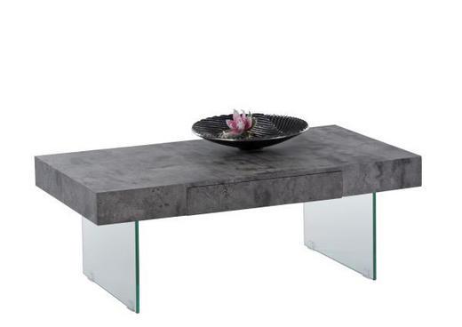KLUB STOLIĆ - siva, Design, staklo/drvni materijal (110/60/42cm)