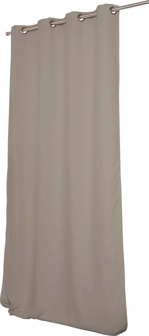 WÄRMESCHUTZVORHANG  Verdunkelung  145/260 cm - Taupe, Textil/Metall (145/260cm)