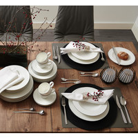 KAFFEESERVICE 18-teilig  - Schwarz/Weiß, Basics, Keramik (43/24/18,1cm) - Seltmann Weiden