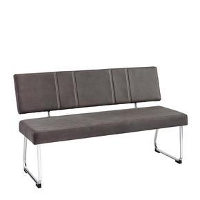 SITTBÄNK - mörkgrå/beige, Design, metall/textil (140/85/59cm) - Ti`me