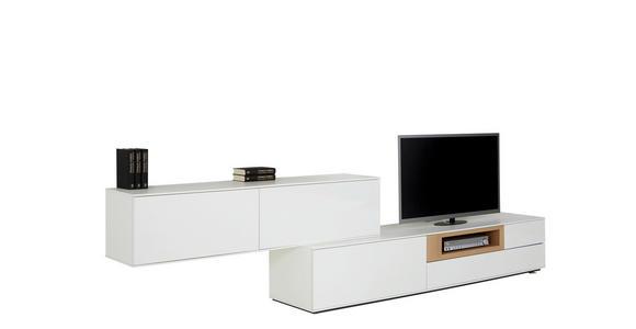WOHNWAND Wildeiche furniert Eichefarben, Weiß - Eichefarben/Weiß, Design, Holz (315/77/47cm) - Dieter Knoll