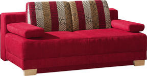 SCHLAFSOFA in Textil Bordeaux  - Bordeaux, Design, Holz/Textil (200/93/102cm) - Novel