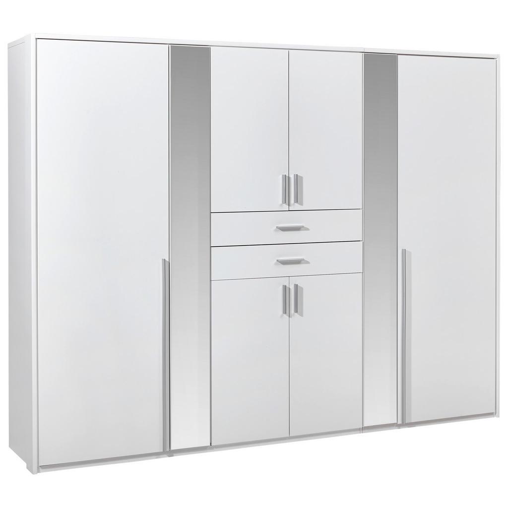 Carryhome SKŘÍŇ ŠATNÍ, bílá, 270/210/58 cm