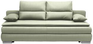 SCHLAFSOFA in Textil Hellgrün, Silberfarben - Silberfarben/Hellgrün, KONVENTIONELL, Kunststoff/Textil (207/94/90cm) - Venda