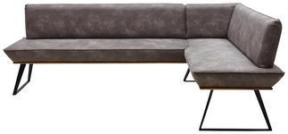ECKBANK 243/183 cm  in Schwarz, Eichefarben, Dunkelbraun  - Eichefarben/Dunkelbraun, Design, Holz/Textil (243/183cm) - Voleo