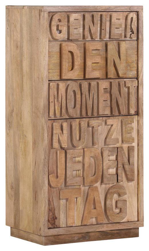 KOMMODE Mangoholz massiv Naturfarben - Naturfarben, Trend, Holz (60/120/40cm) - Carryhome