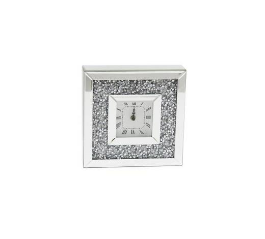 TISCHUHR  Silberfarben  - Silberfarben, Basics, Glas (25,5/25,5/6,5cm) - Ambia Home