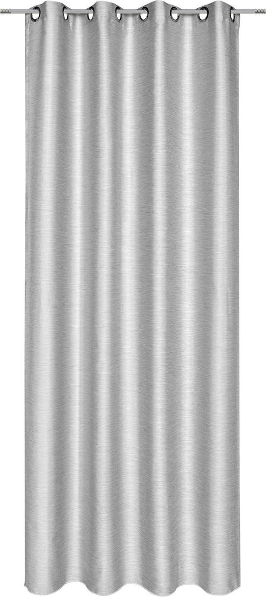 ÖSENSCHAL  blickdicht   135/245 cm - Grau, Basics, Textil (135/245cm) - Esposa
