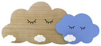 GARDEROBENLEISTE - Blau/Naturfarben, Design, Holz/Holzwerkstoff (48,7/22/5cm) - My Baby Lou