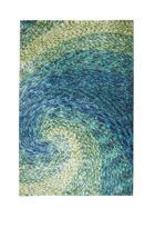 TEPIH VISOKOG FLORA - zelena/plava, Basics, tekstil (130/190cm) - Novel
