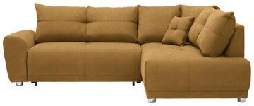 WOHNLANDSCHAFT in Textil Gelb  - Gelb/Silberfarben, KONVENTIONELL, Kunststoff/Textil (260/205cm) - Carryhome