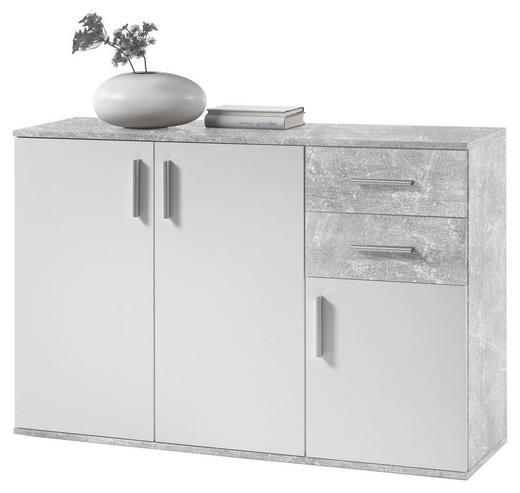 KOMMODE Grau, Weiß - Silberfarben/Weiß, KONVENTIONELL, Holzwerkstoff/Kunststoff (120/82/35cm) - Carryhome