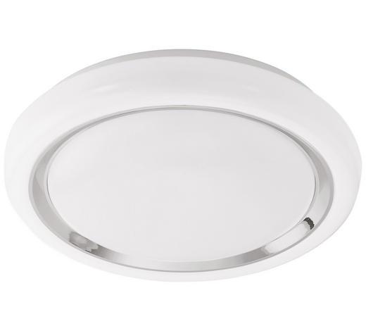 LED-DECKENLEUCHTE - Chromfarben/Weiß, Basics, Kunststoff/Metall (34/8,5cm)