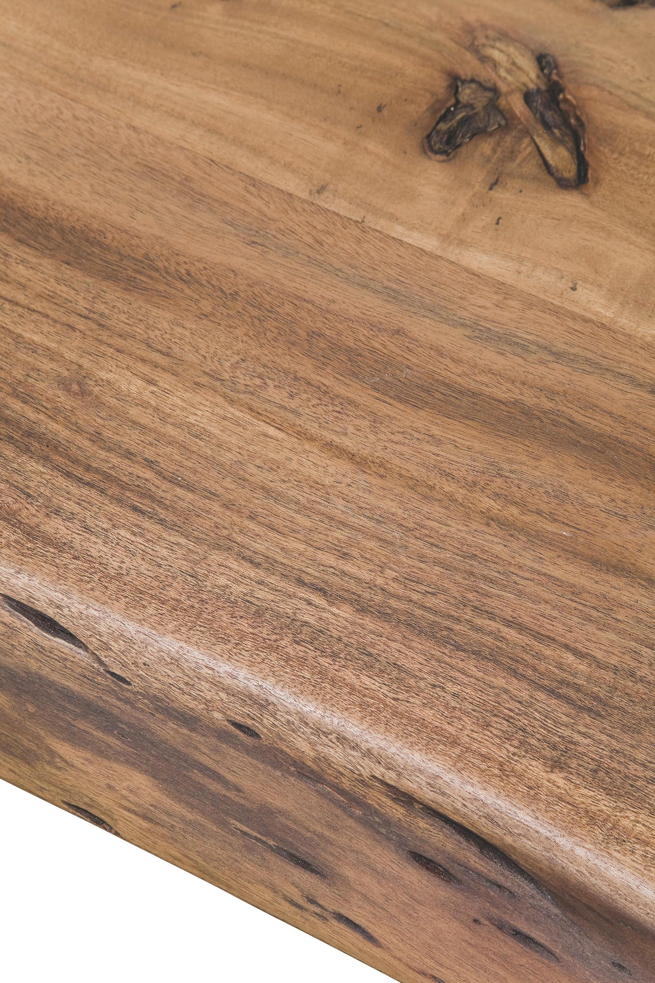 ESSTISCH Akazie massiv Akaziefarben - Akaziefarben, ROMANTIK / LANDHAUS, Holz/Metall (195/77/110cm) - KARE-Design