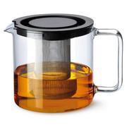 Teekanne - Klar, Konventionell, Glas/Metall (1,3l) - Novel