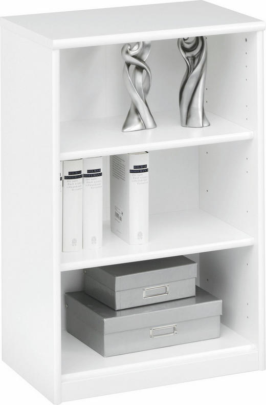 REGAL Weiß - Weiß, Design, Holzwerkstoff (55/84/36cm) - CS SCHMAL