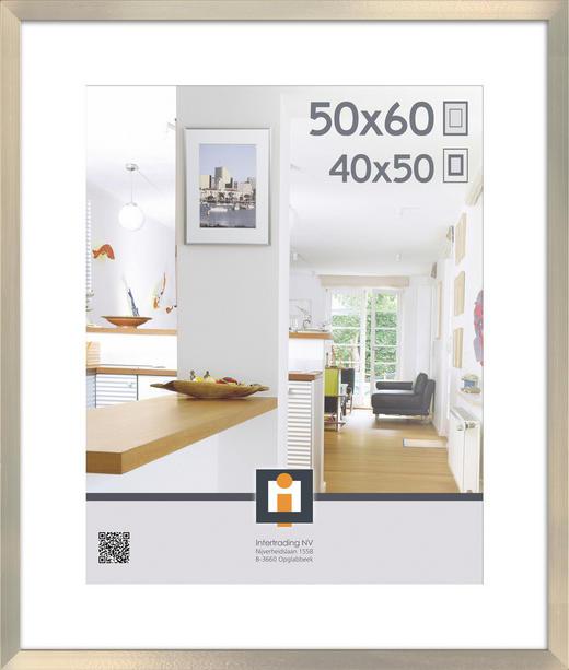 BILDERRAHMEN in Silberfarben - Silberfarben, Basics, Kunststoff (63/53/3cm)