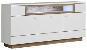 SIDEBOARD - vit/furufärgad, Design, metall/träbaserade material (180/85/42cm) - Hom`in