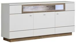 SIDEBOARD matt Kieferfarben, Weiß - Alufarben/Weiß, KONVENTIONELL, Holzwerkstoff/Metall (180/85/42cm) - Hom`in
