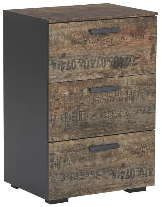 KOMMODE - Schwarz/Braun, Design, Holzwerkstoff/Kunststoff (55/81/42cm) - Carryhome