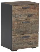 KOMMODE Braun, Schwarz - Schwarz/Braun, Design, Kunststoff/Metall (55/81/42cm) - Carryhome