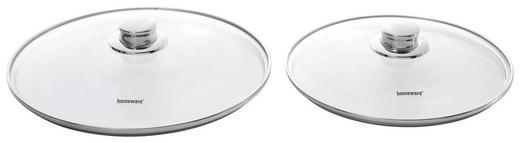 DECKEL  24 cm - Klar, Basics, Glas/Metall (24cm) - Homeware Profession.