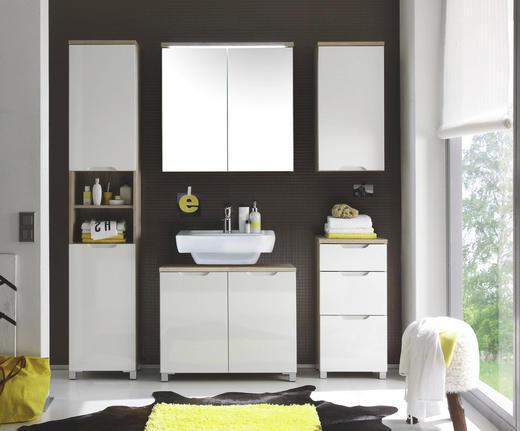 BADEZIMMER Eichefarben, Weiß - Eichefarben/Weiß, Design - Xora