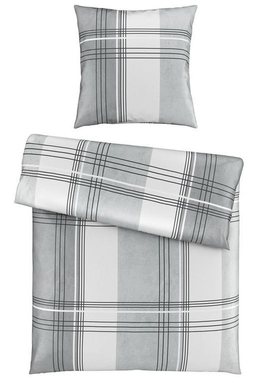 BETTWÄSCHE Satin Silberfarben 155/220 cm - Silberfarben, KONVENTIONELL, Textil (155/220cm) - Novel