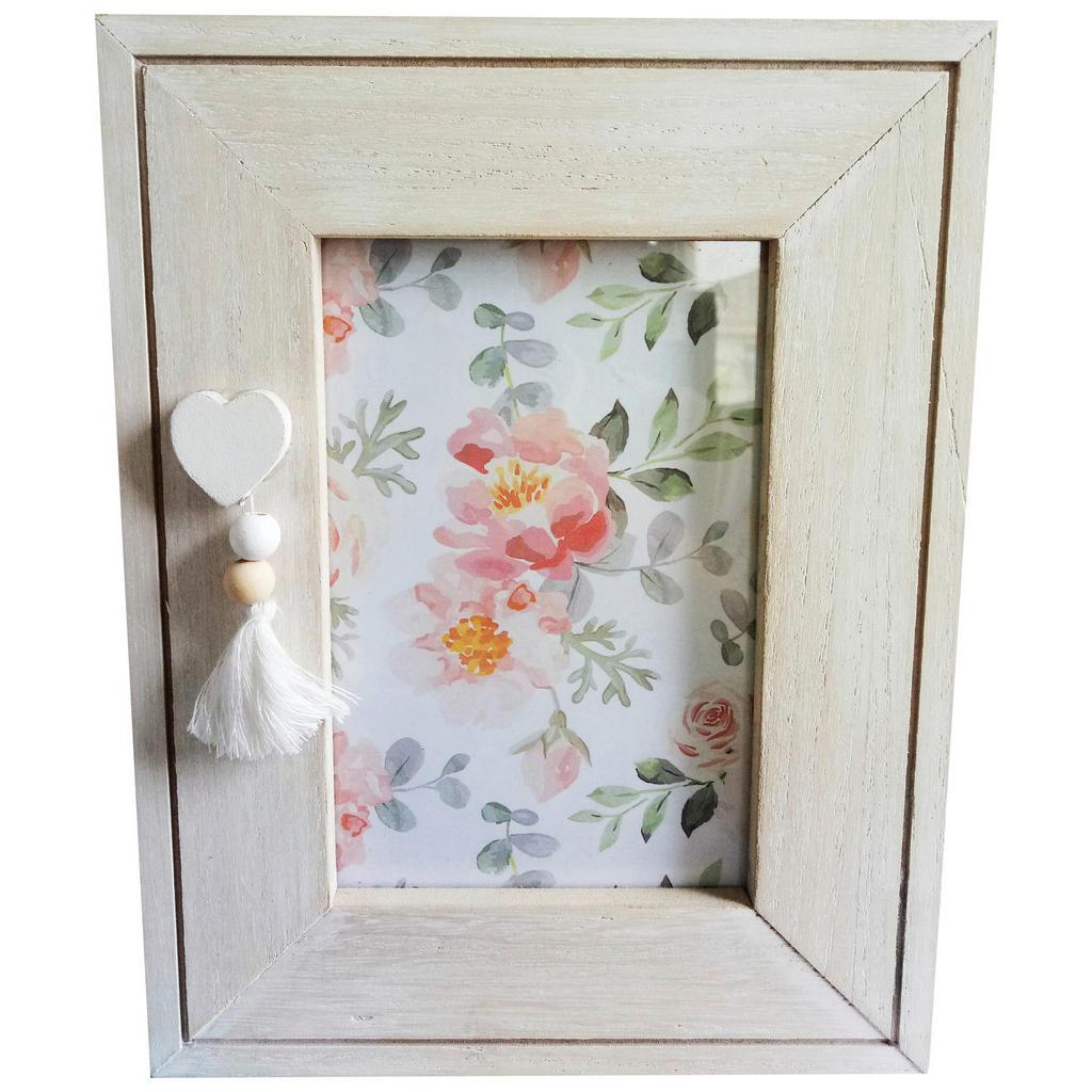 Image of Ambia Home Bilderrahmen in grün, weiss, pink , Kb93-190611101 , Glas, Textil, Holzwerkstoff , 17x22 cm , lackiert,klar,beschichtet,Nachbildung , Passepartout , 0031690615