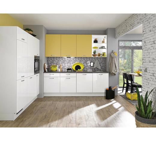 ECKKÜCHE - Gelb/Weiß, KONVENTIONELL, Holzwerkstoff (238/180cm) - Xora
