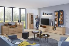 STUHL in Holz, Textil, Leder Anthrazit, Eichefarben  - Eichefarben/Anthrazit, Natur, Leder/Holz (55/84/57cm) - Valnatura