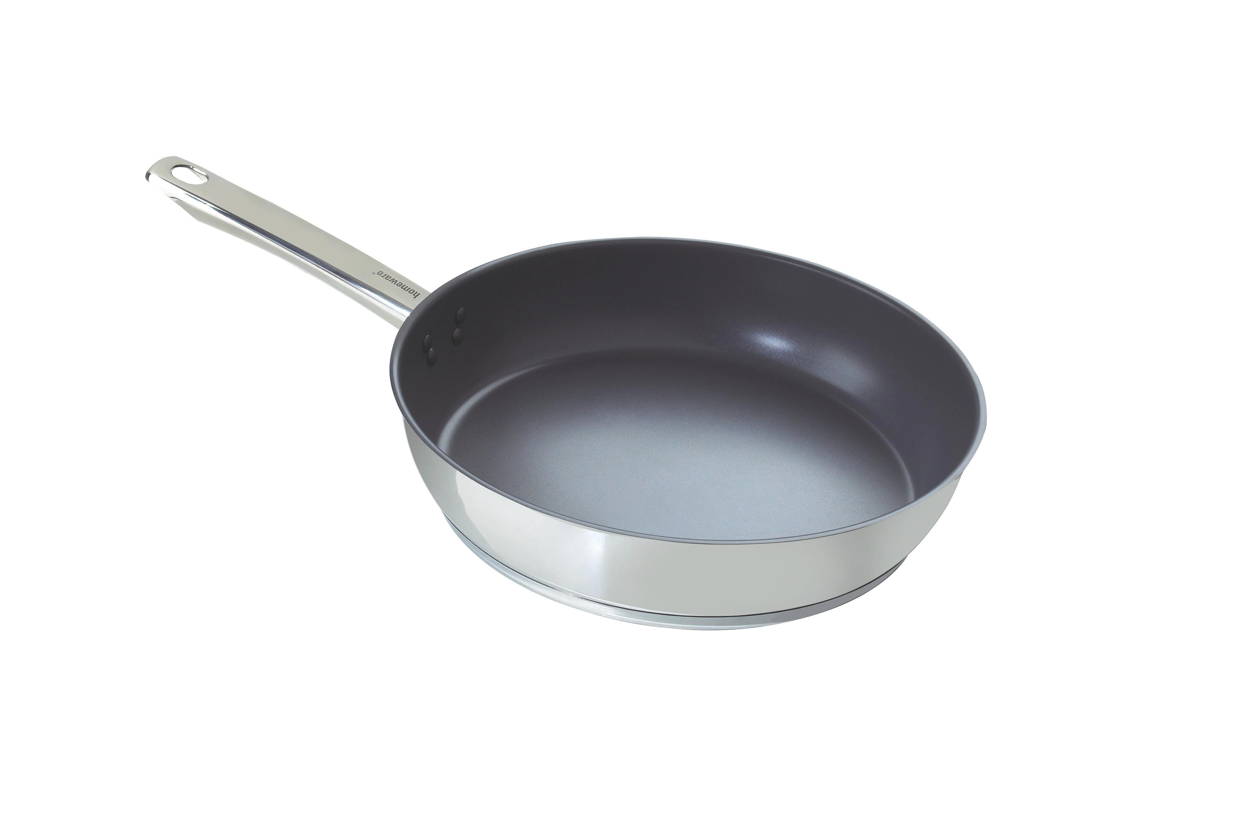 PÁNEV - šedá/barvy nerez oceli, Basics, kov (28cm) - HOMEWARE