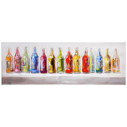 Essen & Trinken ÖLGEMÄLDE - Multicolor, LIFESTYLE, Holz/Textil (50/150cm) - Monee