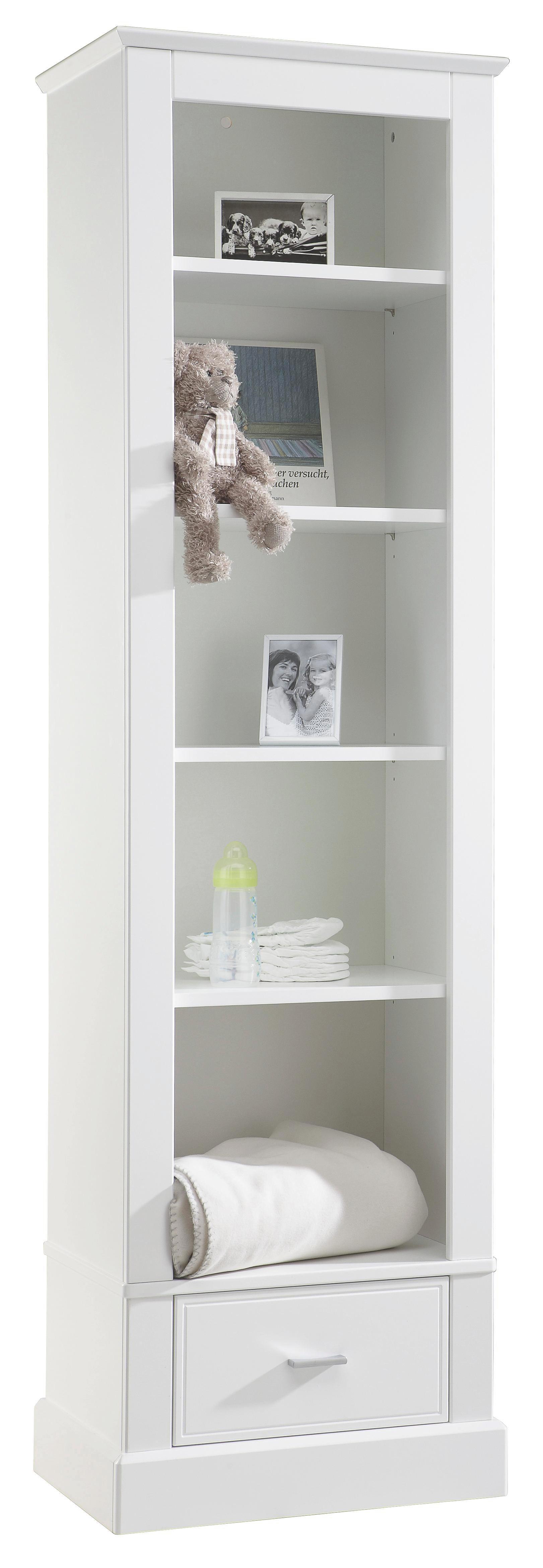 BABYREGAL Isolde Weiß - Alufarben/Weiß, Basics, Holzwerkstoff/Metall (54/192/41cm) - JIMMYLEE