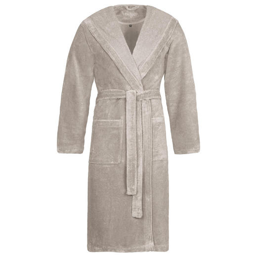 BADEMANTEL - Grau, Basics, Textil (S) - Vossen
