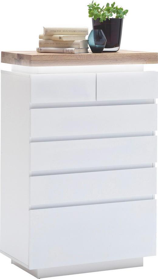KOMMODE - Eichefarben/Weiß, Design, Holz/Holzwerkstoff (73/114/40cm)