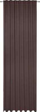 FERTIGVORHANG black-out (lichtundurchlässig) - Dunkelbraun, KONVENTIONELL, Textil (140/300cm) - ESPOSA
